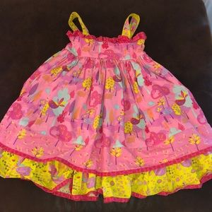 Jelly the Pug Woodland Animals Dress Size6